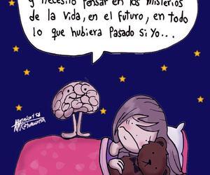 night, brain, and dreams image