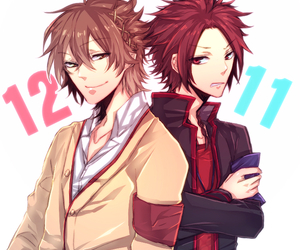 anime, red hair, and brothers conflict image