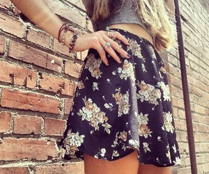 accessories, flowers, and skirt image
