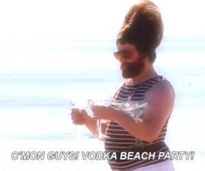 vodka, beach, and party image