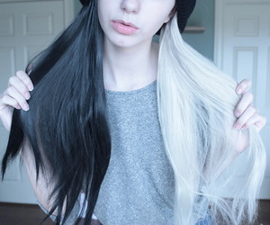 hair, white, and black image