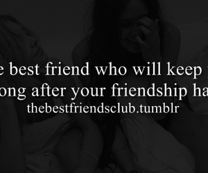 best friend, end, and friendship image