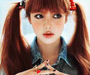 ulzzang, freckles, and pony image