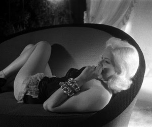 black and white, Diana Dors, and fashion image