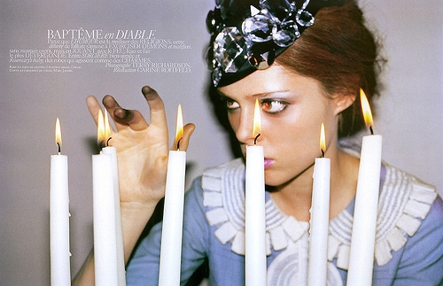 candles, Coco Rocha, and model image