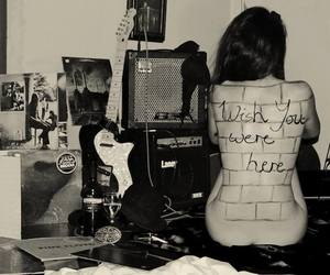 Pink Floyd, wish you were here, and guitar image