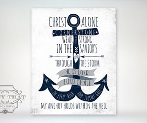 Christ, ocean, and quote image