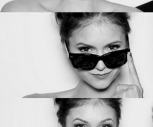 Nina Dobrev, black and white, and the vampire diaries image