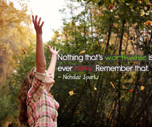 quote, Easy, and nicholas sparks image