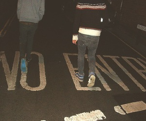 boy, no entry, and night image