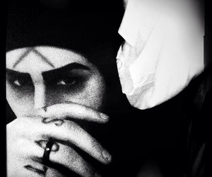 black and white, ghost, and motionless in white image