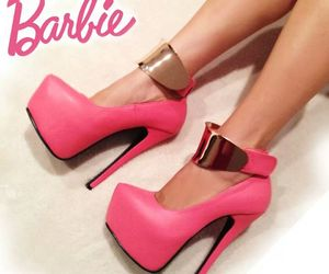 barbie, heels, and pink image