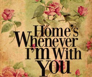 flowers, home, and quote image