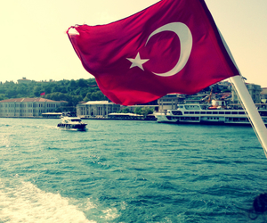 flag, turkey, and turkiye image