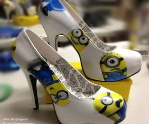 minions, shoes, and heels image