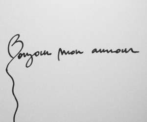amour, french, and ink image