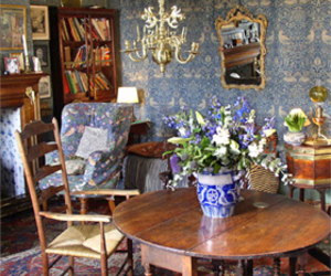 arts and craft, blue, and interior image
