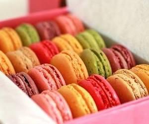 food, macarons, and Cookies image