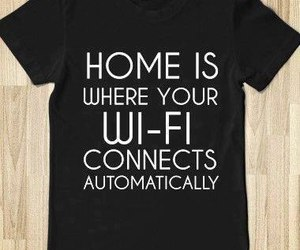 home, wifi, and text image