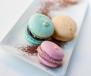 food, sweet, and macarons image