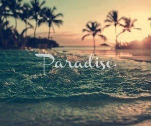 beach, happy, and paradise image