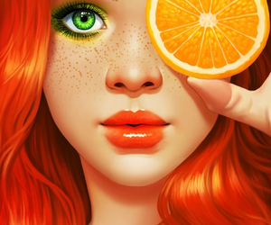 color, girl, and illustration image