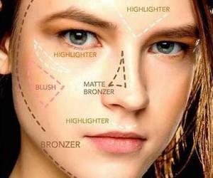 makeup, tips, and contour image