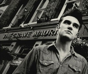 black and white and morrissey image