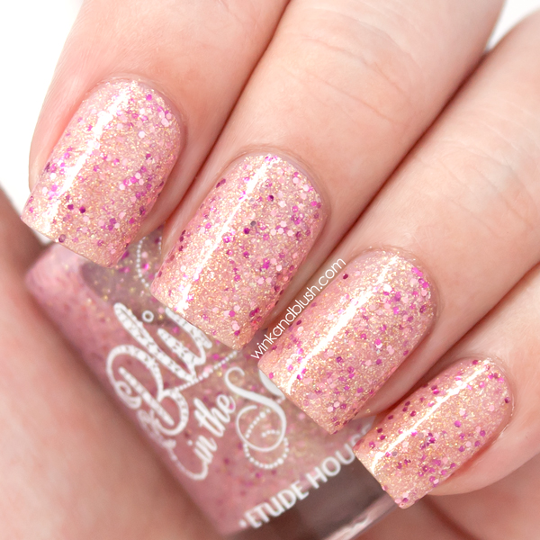 Etude House Bling In The Sea Sparkling Nails #2 Nail Polish Swatches ...