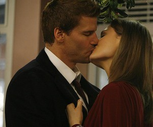 bones, booth, and kiss image