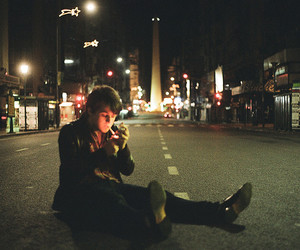 boy, street, and smoke image