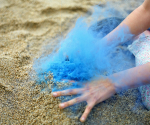 blue, photography, and hand image
