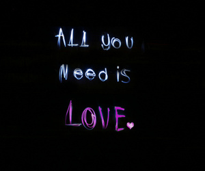 love, text, and all you need is love image