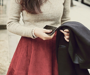 chic, coat, and fall image