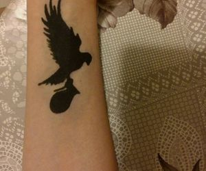 tatoo, hollywood undead, and dove and grenade image