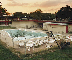 deserted, empty, and swimming pool image