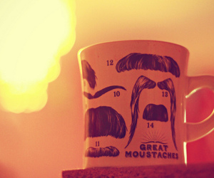 light, moustaches, and mug image