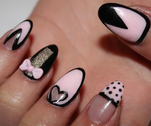 alice in wonderland, nails, and manicure image