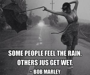 rain, quote, and bob marley image
