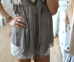 blonde, clothing, and tunic image