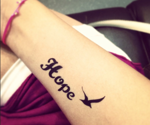 bird, hope, and tattoo image