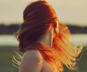 beautiful, landscape, and ginger hair image
