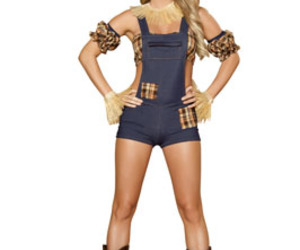 costume, overalls, and scarecrow image