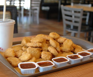 food, nuggets, and McDonalds image