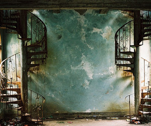 abandoned house, china, and staircase image