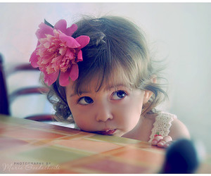 cute, baby, and flowers image