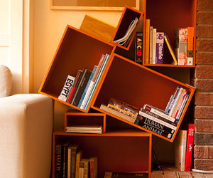books and modern room image