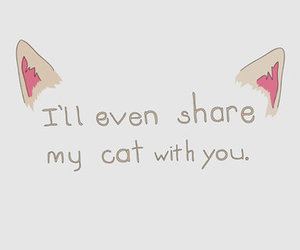 cat, share, and quote image