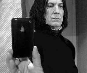 harry potter, snape, and iphone image