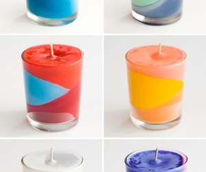 block, candles, and color image